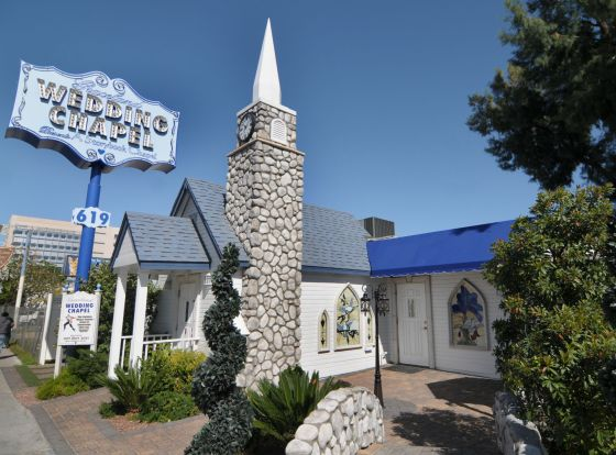 Graceland Wedding Chapel Downtown Las Vegas 3/26/10.